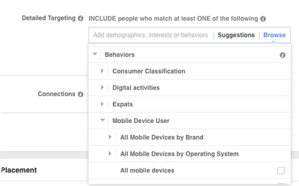 fb device user targeting