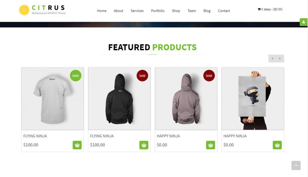 best shopify theme for small inventory
